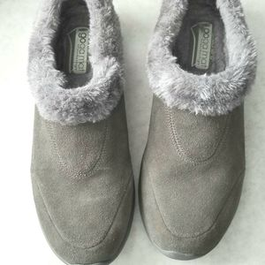 Sketchers gray suede gogamat shoes slip on 9
